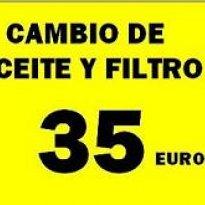 CAMBIO DE ACEITE Y FILTRO 35€